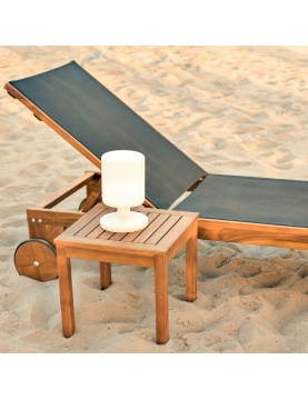 Table d'appoint d'extérieur en acacia