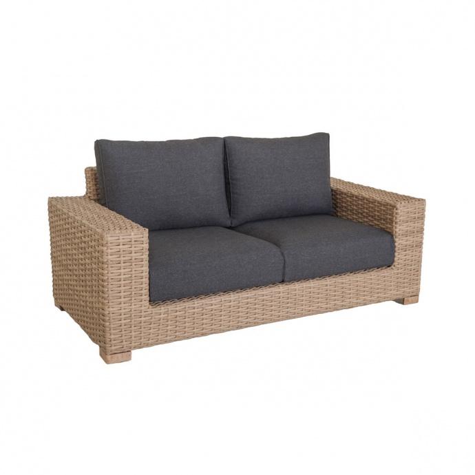 Canapé d'extérieur en rotin (Marron)