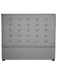 Tête de lit capitonnée grise