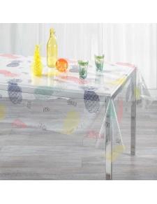 Nappe cristal rectangulaire avec impressions d'ananas colorés