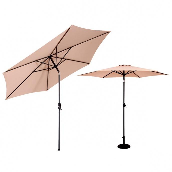 Parasol inclinable en aluminium de 300 cm (Beige)