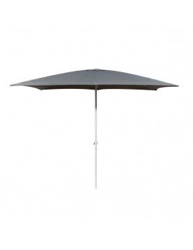 Parasol centré en aluminium blanc