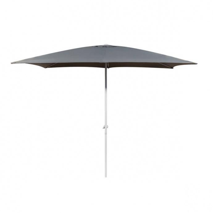 Parasol centré en aluminium blanc (Gris)