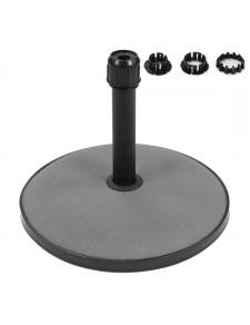 Pied de parasol en ciment avec adaptateur