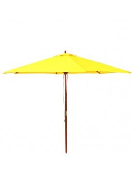 Parasol en bois de 3 m aux couleurs estivales