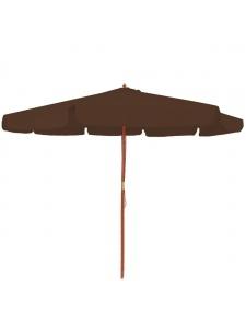 Parasol à volants en bois de 3.50 cm