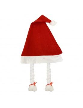 Bonnet de Mère Noël avec tresses