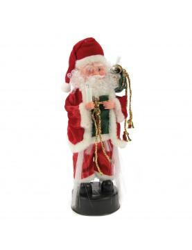 Père Noël lumineux avec mouvement