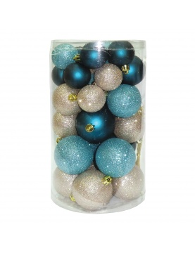 Lot de 30 boules de Noël assorties