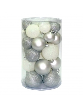 Lot de 30 boules scintillantes