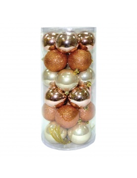Lot de 24 boules de Noël assorties