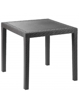 Table outdoor King effet rotin