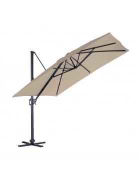 Parasol en Aluminium à Pied Déporté de 3 x 3 m