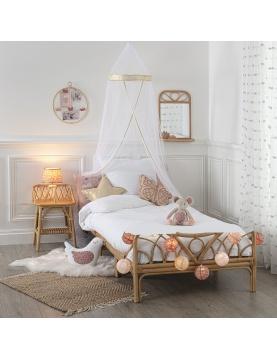 Ciel de lit à bordure dorée