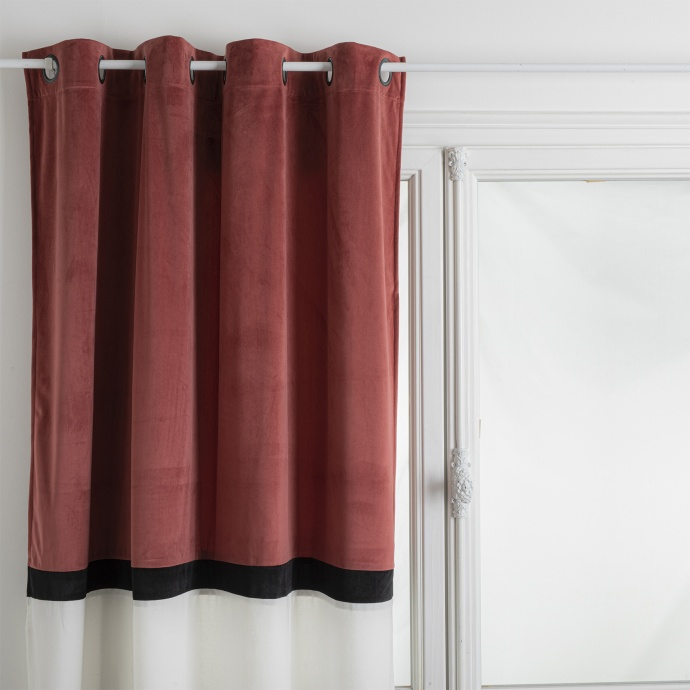Rideau bicolore style Hôtel (Terracotta)