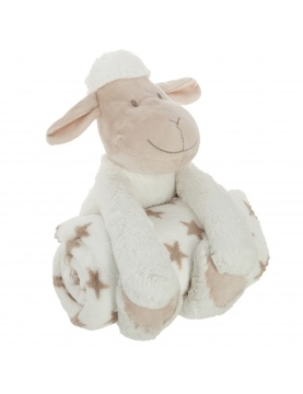 Plaid et peluche mouton