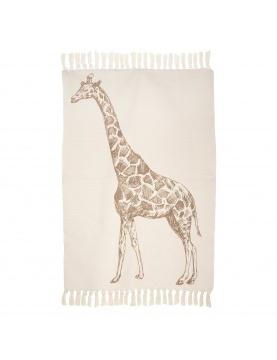 Tapis souple imprimé girafe