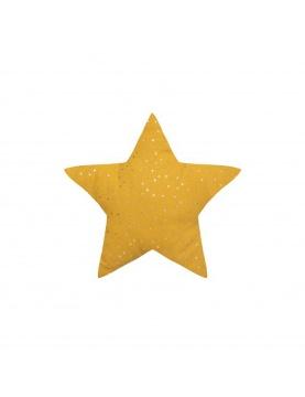 Coussin étoile à motifs métallisés