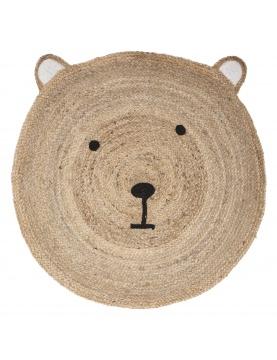 Tapis en jute à tête d'ourson
