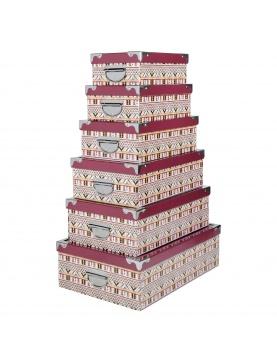 Lot de 6 boîtes gigognes Puebla