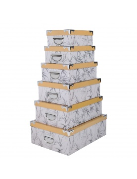 Lot de 6 boîtes Fengshui