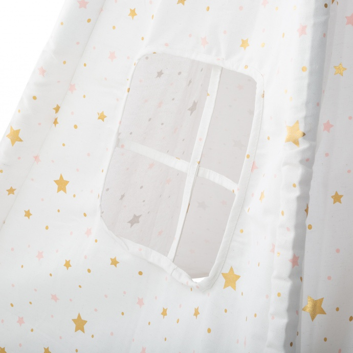 Tipi enfant pliable étoilé (Blanc)