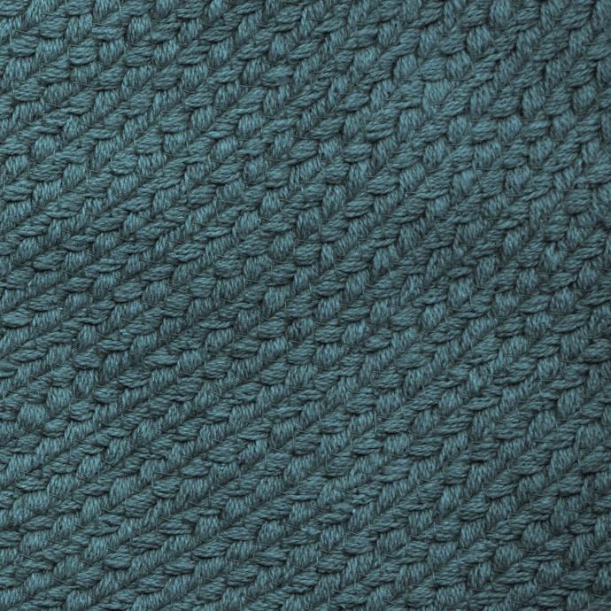 Tapis déco à franges (Bleu Canard)