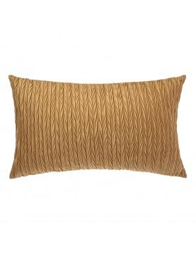 Coussin rectangulaire en velours plissé
