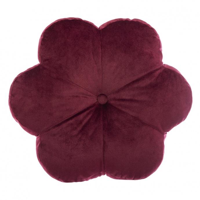 Coussin en forme de fleur (Rouge foncé)