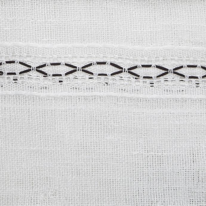 Voilage avec lignes ajourées (Blanc)