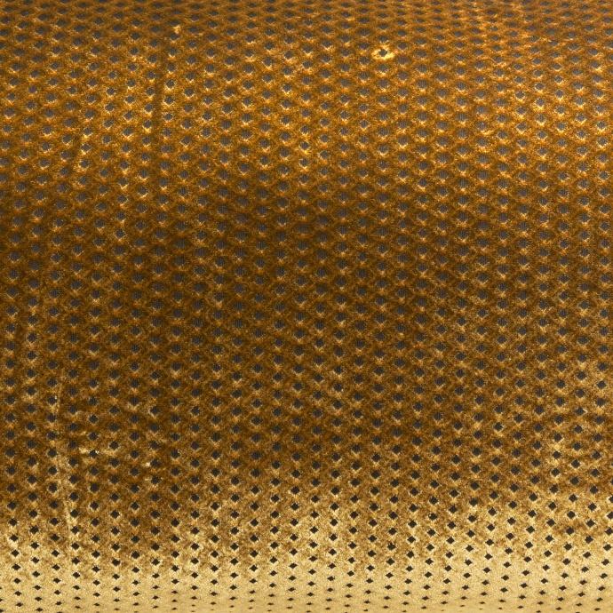 Coussin en velours à motifs graphiques  (Or)