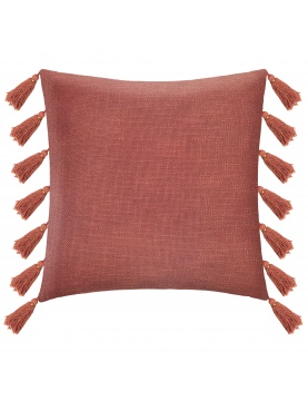 Coussin gypsy avec pompons