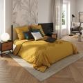 Parure de lit en coton lavé (Ocre)