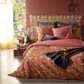 Parure de lit aux impressions fleuries (Camel)