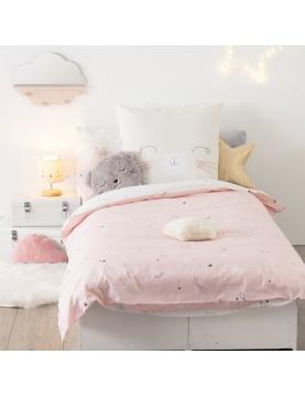 Parure de lit réversible imprimé chat