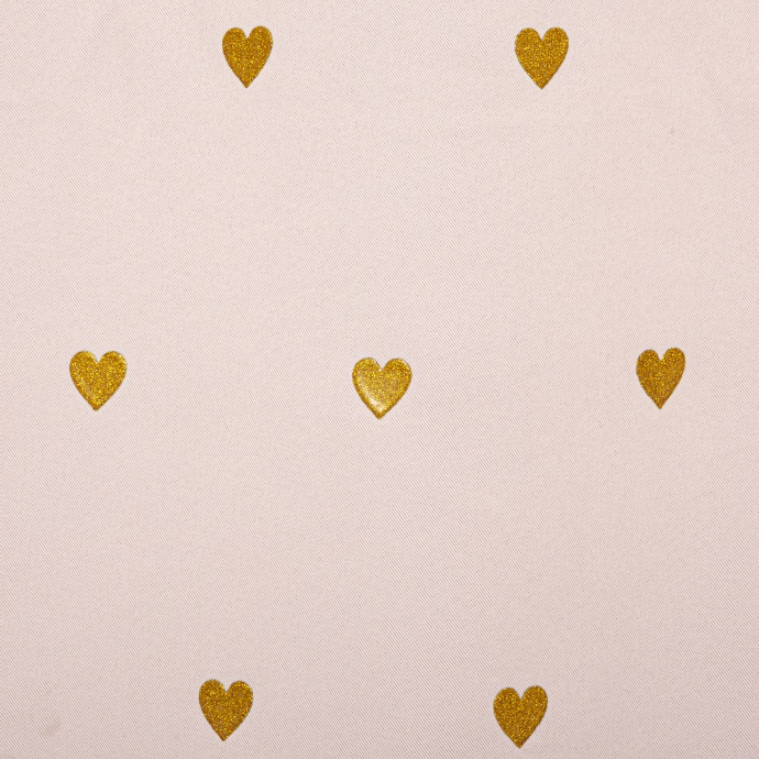 Rideau occultant cœurs pailletés   (Rose)