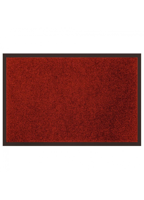 Tapis d'Entrée Uni en Polyester Anti-Poussière (Rouge)