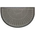 Tapis d'Entrée Demi Lune à Reliefs en Polypropylène  (Gris)