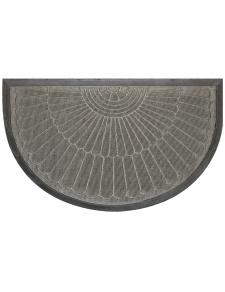 Tapis d'Entrée Demi Lune à Reliefs en Polypropylène