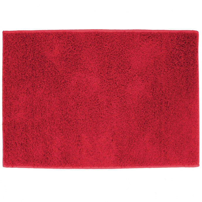 Tapis Rectangulaire Uni Tissé (Rouge)