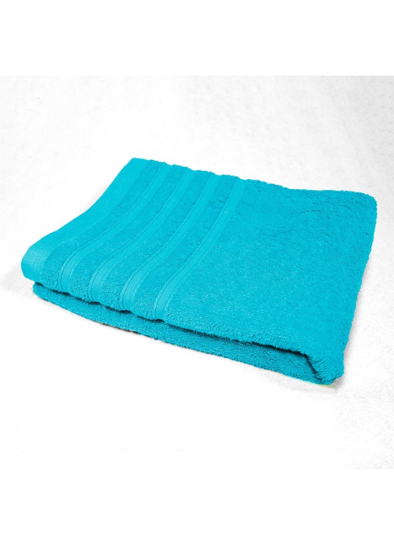 Drap de Douche 70x130 cm Uni en Eponge (Turquoise)