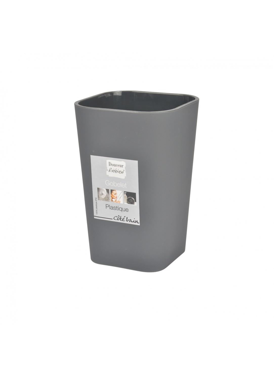 Gobelet en Plastique Effet Soft (Anthracite)