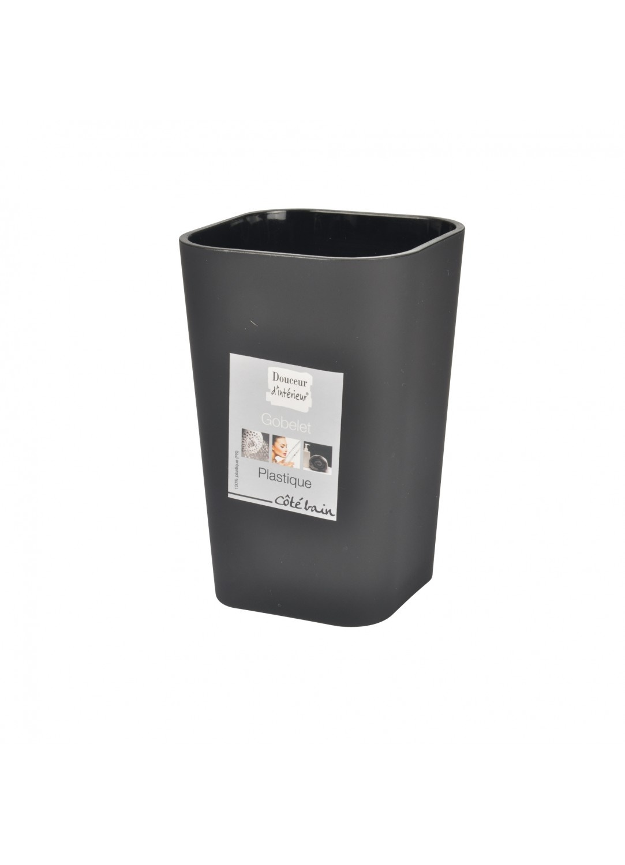 Gobelet en Plastique Effet Soft (Noir)