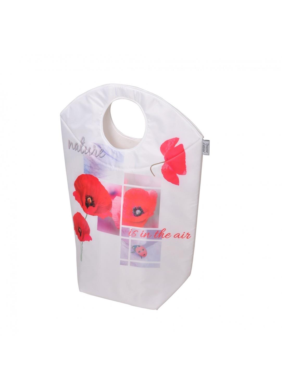 Panier à Linge à Motifs Design (Rouge)