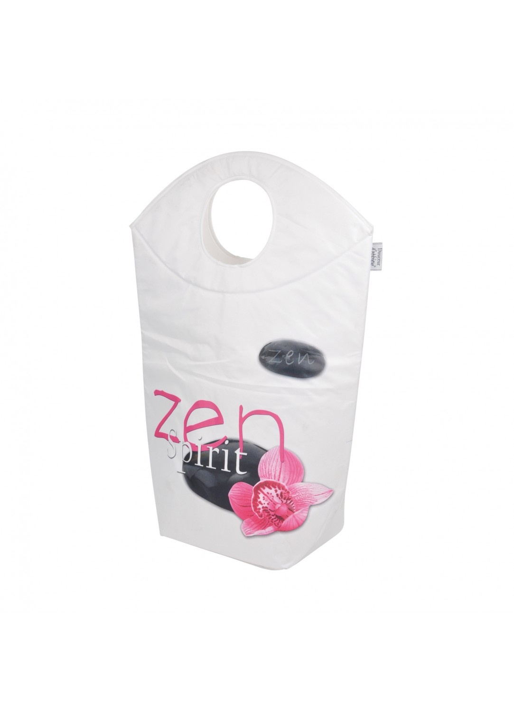 Panier à Linge Tendance en Polyester (Blanc / Rose)