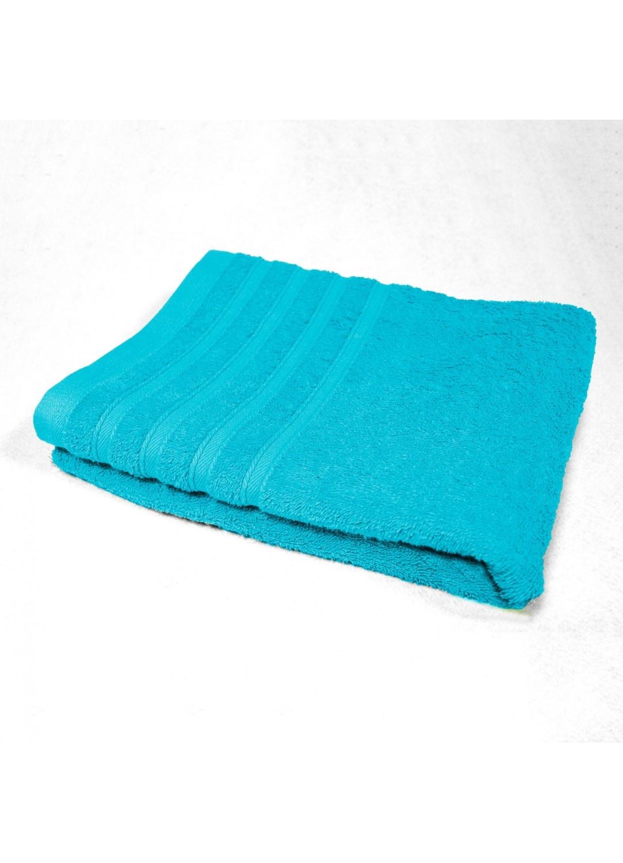 Serviette de Toilette 50x90 cm Unie en Eponge (Turquoise)