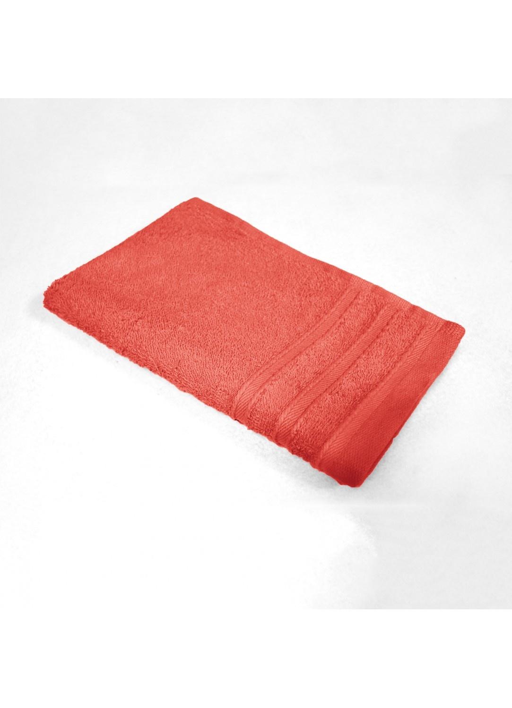 Serviette Invité 30x50 cm Eponge Unie (Corail)