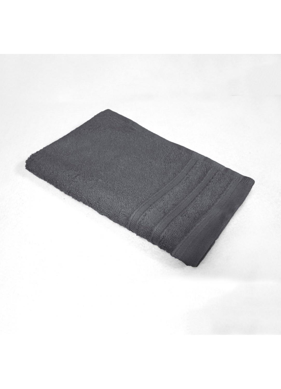 Serviette Invité 30x50 cm Unie en Eponge (Anthracite)