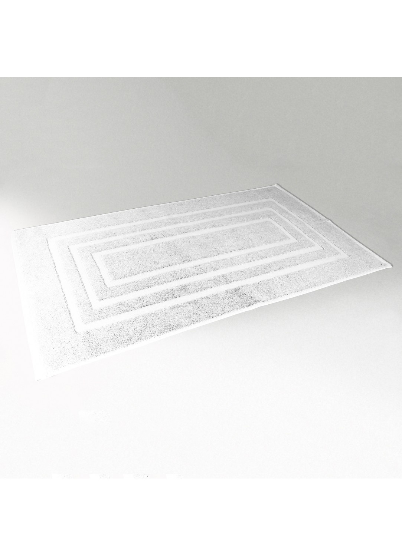 Tapis de Bain 50x85 cm Uni en Eponge (Blanc)