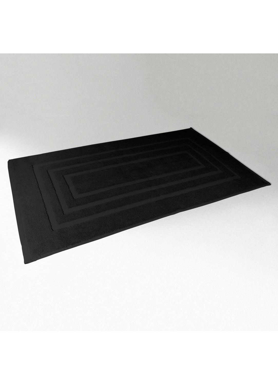 Tapis de Bain 50x85 cm Uni en Eponge (Noir)